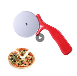 $enCountryForm.capitalKeyWord Australia - Stainless Steel Cutter Pizza Knife Cake Tools Pizza Wheels Scissors Ideal for Pizza, Pies, Waffles and Dough Cookies (Red)