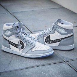 Опт Nike Air Dior Converse Jordan 1 AJ1 B23 Oblique Zoom R2T Racer Blue Premium KAWS Low Kim Jones High Top Designer Luxury Kanye West Men Women Running Sneakers Basketball Shoes