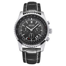 $enCountryForm.capitalKeyWord NZ - Retro Style Accurate Second Three-eye Male Waterproof Quartz Watch Classic Sports Casual Wild Quartz Men's Watch
