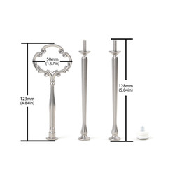 tier plate stand NZ - 100pcs Lot Metal Wedding Hardware Cupcake Flower Shape 3 Tier Plate Cake Stand Centre Handle Fitting Cake Stand Handle RodFancy Cupcake Flow