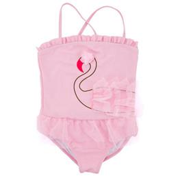 LittLe girLs one piece swimwear online shopping - Little Kids Girl One Piece Swimsuit Summer Beach Quick Drying Sling Swimsuit Kids Designer Lace Swimwear Swan Bathing Suit