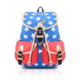 Design Canvas Print Australia - New Design Wonder Woman Printed Backpacks Big Kids Girls Student school bags Canvas backpacks designer backpack SS186