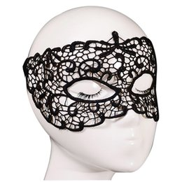 black venetian masquerade full mask Australia - Black Venetian masquerade mask Lace hollow mask Black Lace Floral Eye Venitian for Masquerade Fancy Party Dress