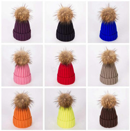$enCountryForm.capitalKeyWord NZ - Winter Women Knitted Hat Warm Pom Pom big ball Wool Hat Ladies Skull Beanie Solid Female Outdoor Caps LJJA2808