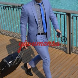 Suits Tails Australia - Two Buttons Notch Lapels Tailed Coat Men Suits For Wedding 2 Pieces (Jacket+Pants ) Fashion Custom Homme Terno Slim Fit Blazer