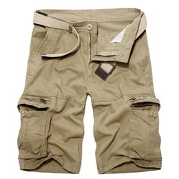 Green Bermuda Shorts Australia - Shorts army green Coon Shorts men Loose Multi-Pocket Summer Mens Cargo Homme Casual Bermuda Trousers yy
