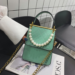 Discount pearl cell phone cover - chain bag 2019 new Korean Pearl handbag Joker Messenger bag student cell phone Messenger Shoulder