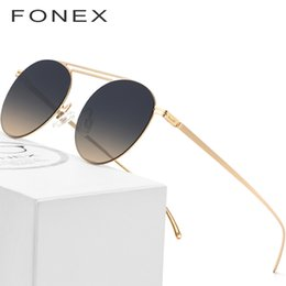 07cb0f48f159 Nylon Polarized Sunglasses Men 2018 Famous Brand Designer Ultra Light  Screwless Eyewear Retro Round Mirror Sun Glasses for Women