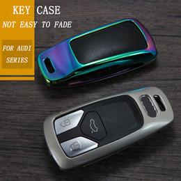 $enCountryForm.capitalKeyWord NZ - New Zinc Alloy Car Key Cover Case Key Case for AUDI A4 B9 Q5 Q7 TT TTS 8S 2016 2017 car smart remote Car Styling