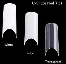 $enCountryForm.capitalKeyWord NZ - 100pcs Art U-shape Half Cover French Manicure False Tips Fake Nails Artificial Nails Beauty Products