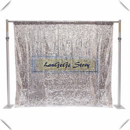 China 10ft*10ft Nice Silver shining sequin curtain photograph Birthday Christams festive party decorations background curtain fabric cloths suppliers