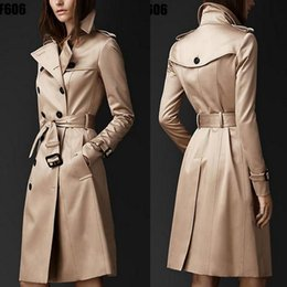 british red coats Australia - British Style Trench Coat For Women New Women's Coats Spring And Autumn Double Button Over Coat Long Plus free shipping