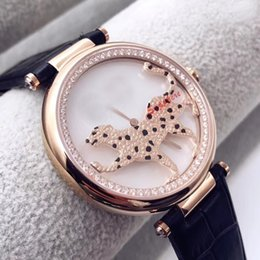 DiamonD watches leather belt online shopping - New Style Special Edition Quartz Movement Ballon Diamond Women Watch White Dial Leather Band Male Watch