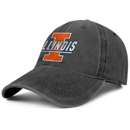 $enCountryForm.capitalKeyWord Australia - Womens Mens Washed Cap Hat Plain Adjustable Illinois Fighting Illini Basketball old Print logo Rock Punk Cotton Cricket Cap Golf Military Ca