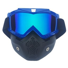 Goggles For Half Helmets Australia - Half Helmet Mask Goggles Eye Protection With Mouth Filter Glasses Ski Goggles for Outdoor Sport Riding Helmet Mask Eyeglasses