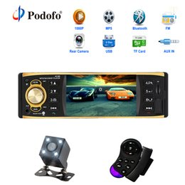 Station Audio NZ - 4.1 Inch 1 One Din Car Radio Audio Stereo Aux Fm Radio Station Bluetooth Autoradio With Rearview Camera Remote Control