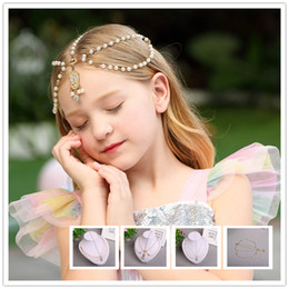 $enCountryForm.capitalKeyWord NZ - Girls Forehead chain Acrylic Crystal Princess head chain Children Hair Accessories Wedding party Kids hair Jewelry Bohemian metal crown