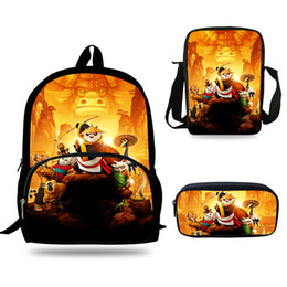 $enCountryForm.capitalKeyWord Australia - 16inch Boys Mochila Cute Cartoon School Bags Panda Backpack Amnimals print Bag For Girls Rucksack 3 Set Student Bookbag