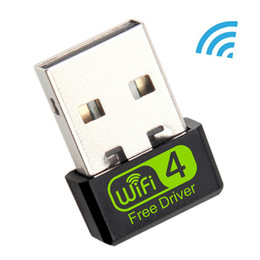 mini wi fi adapter NZ - LOT* Mini USB WiFi Adapter 150Mbps Wi-Fi Adapter For PC USB Ethernet WiFi Dongle 2.4G Network Card Antena Wi Fi Receiver