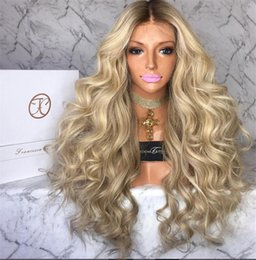 $enCountryForm.capitalKeyWord Australia - 180 Density Peruvian Virgin Human Hair Ombre Full Lace Wigs #4T613 Blonde Lace Front Wig With Baby Hair Around