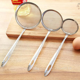 hthomestore Hot tkitchen stainless steel colander filter oil spill spoon foam spoon filter oil filter spoon on Sale