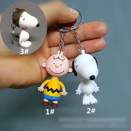 Ingrosso Snoopy Action Figures Doll Toys Portachiavi Accessori 2 Modelli per bambini Giocattoli Regali per bambini Personaggi personaggi Figure Giocattoli