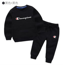 girls opening clothes UK - HOT SELL fashion classic Style Childrens new For Boys And Girls hoodie sweater Sports Suit Baby Infant Short Sleeve Clothes Kids jacket bc2s