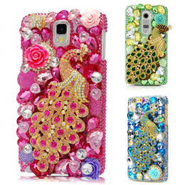 cases samsung galaxy a3 Australia - A8 2018 Stone Peacock Phone Cases For Samsung Galaxy A3 A5 A7 2016 2017 A9 A8 2018 Luxury Glitter Diamond Soft TPU Phone Case