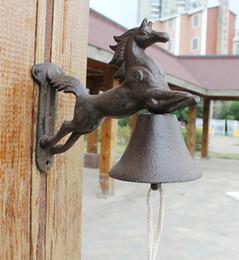 $enCountryForm.capitalKeyWord Australia - Cast Iron WELCOME Dinner Bell Horse Wall Mount Metal Door Bell Home Garden Porch Patio Farm Yard Cabin Ctaft Outdoor Decoration Brown Retro
