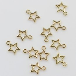 $enCountryForm.capitalKeyWord Australia - 100Pcs 8*10MM Antique Gold Stars Christmas Charms Pendants For DIY Crafting And Jewelry Making