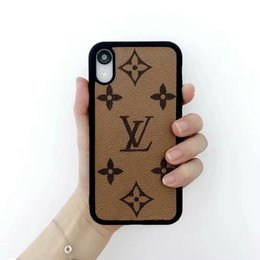 $enCountryForm.capitalKeyWord UK - 2019 new brown printed letter logo phone case shell for iphone Xs max Xr X 7 7plus 8 8plus 6 6plus hard back cover