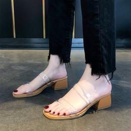 ElEgant flip flops online shopping - LAPOLAKA Chic Style Fashion Party Summer Slippers Shoes Women Elegant Chunky Heels Casual flip flops Woman Shoes