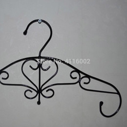 ironing clothes NZ - 100pcs Ancient Metal Flower Hanger for Clothes European Style Iron Clothing Hangers Boutique Decoration