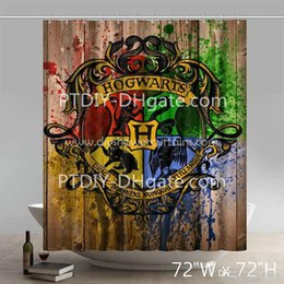 $enCountryForm.capitalKeyWord Canada - Professional DIY Unique Symbol Hogwarts Crest Watercolor Print Harry Potter Bathing Shower Curtains