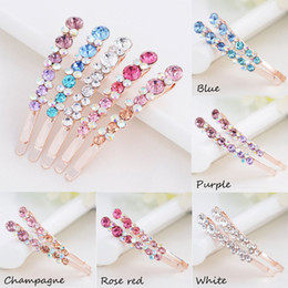 Crystal Plastic Hair Clip Australia - 20PCS  Korean Women Crystal Rhinestone Hair Clips Barrette Hairpins Hairband Edge Clamp Headwear Hair Styling Tools Accessories