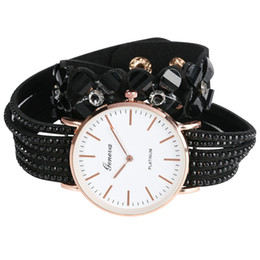 $enCountryForm.capitalKeyWord UK - Exquisite Quartz Bracelet Watches for Women PU Leather Strap Wristwatch Special Large Dial Ultra-thin Analog Bangle Watch