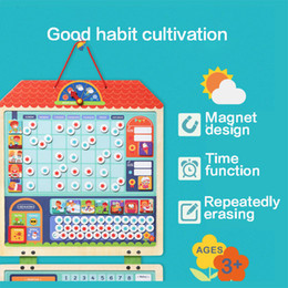 $enCountryForm.capitalKeyWord NZ - MiDeer Wooden Magnetic Behavior Habits Record Puzzle Chart Calendar Kids Schedule Children Educational Toys Target Board