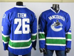 $enCountryForm.capitalKeyWord Australia - Vancouver Canucks Jerseys The Best Player Of 26 Etem Jersey High Quality Embroidered Men's Gray ice Hockey Jerseys Stitched