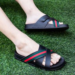 231459058ade Slippers men s summer outdoor word drag beach sandals herringbone sandals  Korean fashion wear casual personality tide