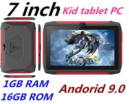 kids android tablets wholesale UK - Newest kid Tablet PC Q98 Quad Core 7 Inch 1024*600 HD screen Android 9.0 AllWinner A50 real 1GB RAM 16GB Q8 with Bluetooth wifi dhl