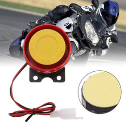 12v car siren horn 2019 - Red 12V Car Motorcycle Security System Control Alarm Truck Motorcycle ATV Raid Siren Small Electric Horn Alarm Remote ch