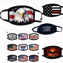 Лицевые маски Trump Американский Избирательные Поставки пылезащитные маски для печати Универсальный для мужчин и женщин американский флаг маска Бесплатная доставка на Распродаже