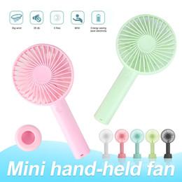 Großhandel Tragbarer Mini Fans USB-Akku-Tischständer Luftkühlgebläse mit Kleinkasten