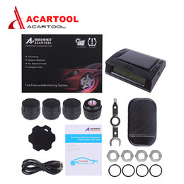 $enCountryForm.capitalKeyWord Australia - Acartool TPMS LCD Display Car Wireless Tire Pressure Monitoring Alarm System 4 Sensors Built-in Solar Battery free shipping