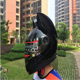 $enCountryForm.capitalKeyWord Australia - New motorcycle four seasons men and women anti-fog helmet off-road car horn cat that is fashionable earphone helmet 06