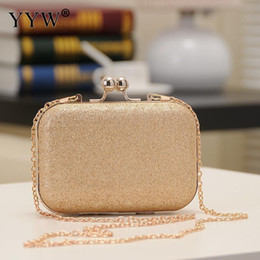 shining leather bags NZ - Mini Box Pu Leather Clutch Bag Women 2019 Evening Party Sequin Shining Clutch Purse Female Clutches With Chain Crossbody Bags