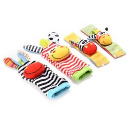 $enCountryForm.capitalKeyWord Australia - Wrist Rattles Hands Foots Finders Baby Infant Soft Toy Baby Socks Wristand Newest Cute Enducation Development Toys Fashion