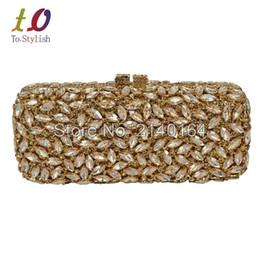 $enCountryForm.capitalKeyWord Australia - Nice- Noble Gold Color Match Wedding Dress Style Crystal Evening Bag Crystal Purse Nice New Style Party Bag Wedding Clutch Bag 88182