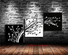 $enCountryForm.capitalKeyWord Australia - Floral Black and White Tree , 3P Canvas Pieces Home Decor HD Printed Modern Art Painting on Canvas (Unframed Framed)