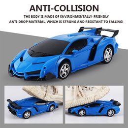 transformer cars toys NZ - New Rc Transformer 2 In 1 Rc Car Driving Sports Cars Drive Transformation Robots Models Remote Control Car Rc Fighting Toy Gift.#ibc